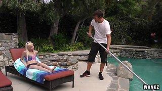 WANKZ- Piper Perri Seduces the Pool Guy