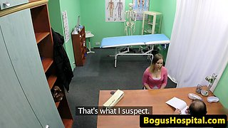 Busty euro fingerfucked by horny doctor