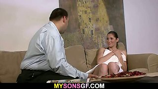 He tricks and fucks his son\'s GF