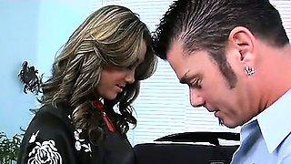 South Korean sex kitten, Heather, easily seduces Shane with