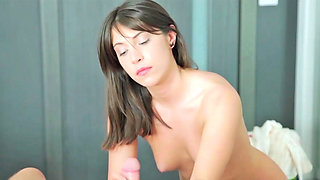 Fantina sucking gigantic weiner and getting smashed in her vagina