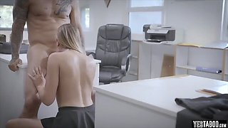 Blonde secretary learns what a sexual offer means
