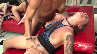 Rocco Siffredi organizes insane sex orgy with many hot bitches