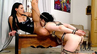 Girl Gets Flogged By Mistress
