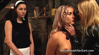 Lesbian Slave With Collar Around Neck Punished By Mistress