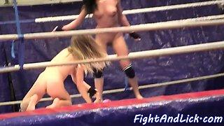 Wrestling lezzie queening amateur eurobabe