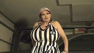 MILF Teddi Barrett in a referee costume (no sound)