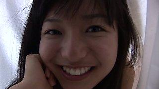 Asian cutie in bikini Mayumi Yamanaka demonstrates her innocent beauty