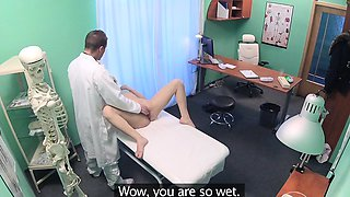 Fake Hospital Shy patient with soaking wet pussy