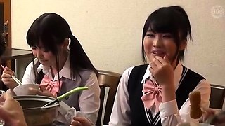 Extreme Long Hair Japanese Masseuse Gives Handjob