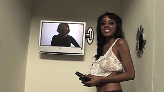 Busty Ebony Gigi Kitty Gets Creampied at Gloryhole