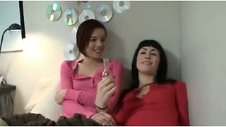 My girlfriend and her best friend having threesome