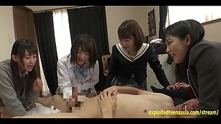 Jav Idol Schoolgirls BJ Face Sit Fuck One Lucky Guy Really Cute Teens Who Take Turns