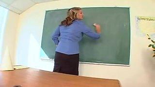 BBW teacher seduces her favorite student