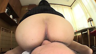 Japan office lady bottomless facesitting farts HD subtitles