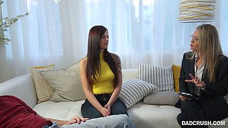 Ardent tattooed Scarlett Mae tries out to show off how good she is at riding dick