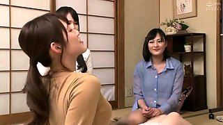Solo Japanese maid flashes her pretty panties