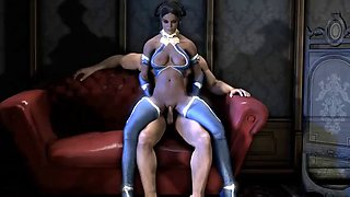 Jade, Kitana, Milena and Cassie Cage in anal brutal combat with enemies