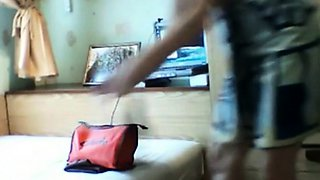 stepsister 19 takes care of her pussy
