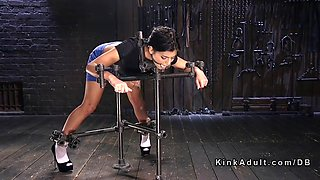 bent over in device bondage got fingered