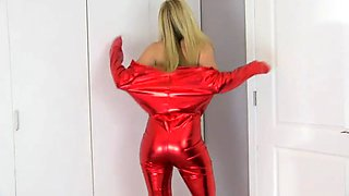 princess lyne red latex dress