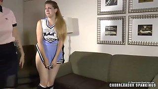 blonde cheerleader spanked