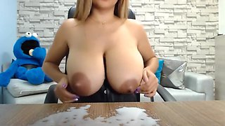 Awesome Latina Emptying Her Huge Perfect Boobs On Cam
