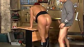 Breasty mature girl gets fucked in MMF threesome