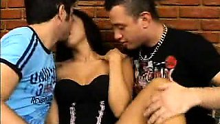 Busty Anita Ferrari loves getting in a threesome with her
