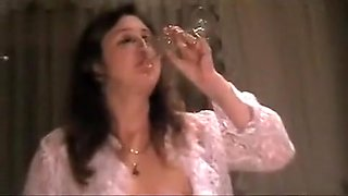 Piss drinking mature wife