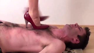 Femdom Girls dominate guys with feet