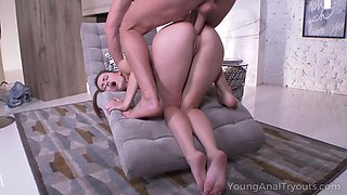 Massive aggressive dick drills Russian anal hole of naughty babe Sofy Torn