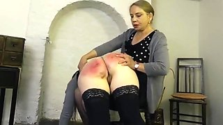 The cane teaches her a good lesson