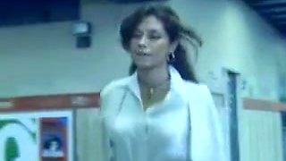 sexy vintage brunette voyeur action subway movie 80s
