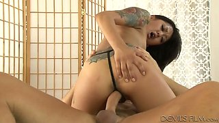 Sexy masseuse Saya Song gets it on with her client in the massage parlor
