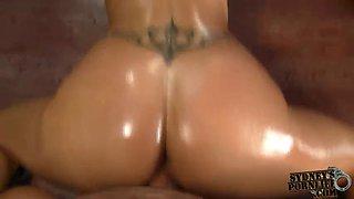fuckin oiled ass