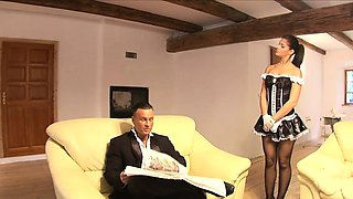 Her mistress\'s husband is pissed at his wife and neglects