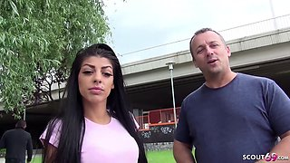 GERMAN SCOUT Skinny Teen Nicol at First Time Casting