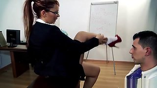 Hotgold Hot Busty Milf Teacher goes wild with a teen dick