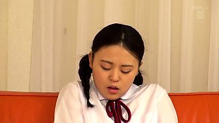 Gorgeous Korean schoolgirl gets her honey hole pounded rough