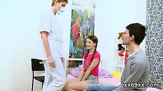 Doctor observse hymen check-up and virgin sweetie plo99Vha