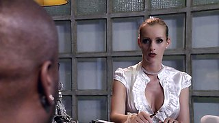 BUMS BUERO - Interracial office fuck with hot German MILF