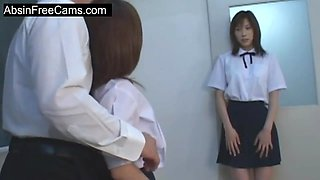 Cock Sharing Action With Couple Of Japanese Schoolgirls