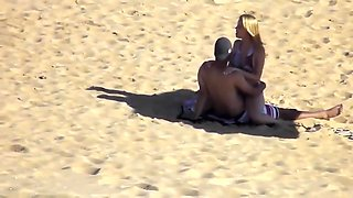 Young couple fucking on the beach