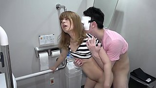 Hikaru 19 Year Antiquated Symbol Course Youthful Woman And Veritable Toilet Sex Inside The Can Energized By The Tense Circumstance