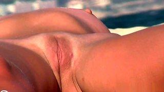 Shaved Big Pussy Lips Cameltoe Nudist Milf Voyeur HD Video