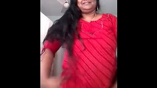 Indian aunty showing her private parts to her lover