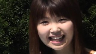 Momoko Tabata undresses and shows her hairy cunt on house