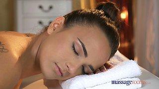 Massage Rooms Stunning big natural tits babes have sensual orgasmic sex