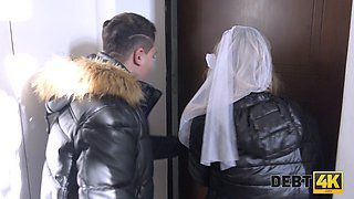 Groom has to watch Czech bride Claudia Macc riding strong cock wild